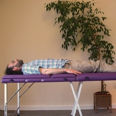 Picture of man on a healing table